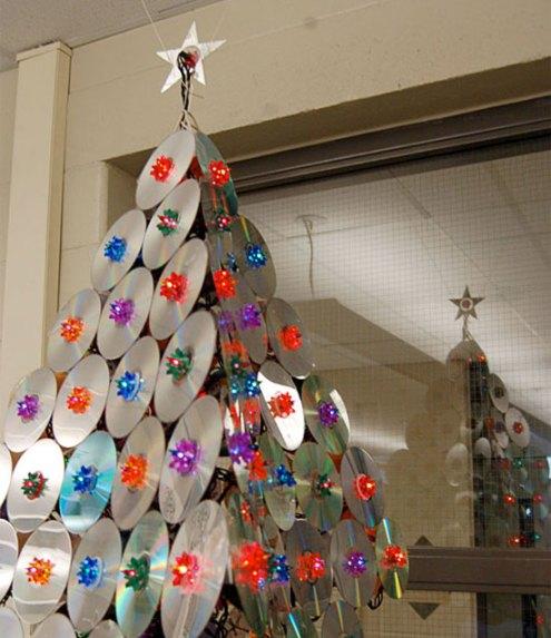 cd cristmas tree
