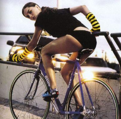 Fixie Bike + Hot Babe